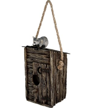 Birdhouse - Outhouse/Raccoon 8 in.