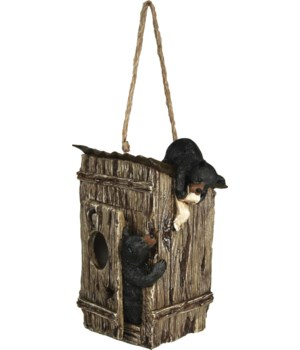 Birdhouse - Bears in Outhouse 8 in.