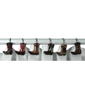 Shower Curtain Hooks - Cowboy Boot