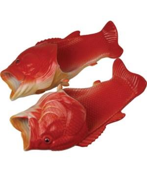 Fish Sandal Adult Medium - Red Snapper 10/10.5 size
