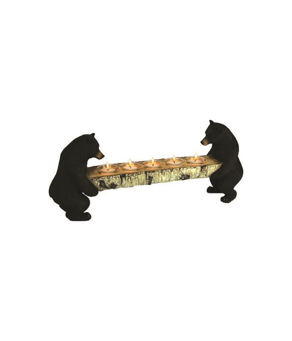 Candle Holder - Bears Hold Birch Log 24 in.