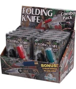 Knife Combo - Shotshell and Camo Lockblade Knives  in.