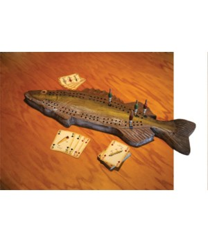 Cribbage Board - Fish 25 x 10 in.