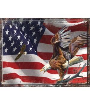 Cutting Board 12in x 16in - American Flag
