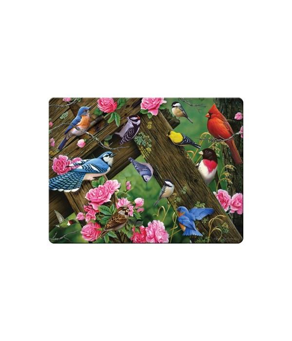 Cutting Board 12in x 16in - Song Birds