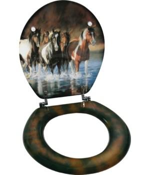 Toilet Seat - Horse V Schultz