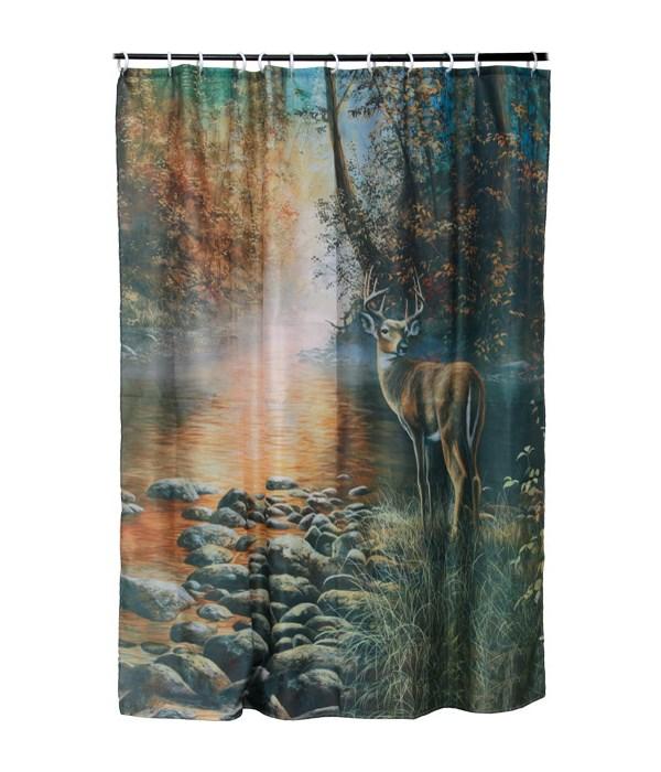 Shower Curtain - Deer70 x 72 in.
