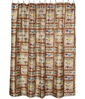 Shower Curtain - Fishing Lure70 x 72 in.