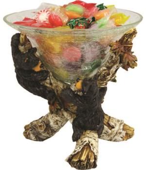 Candy Dish - Cute Bears 8 in.