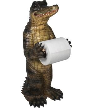 TP Holder - Standing Alligator21.5 in.