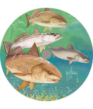 Lazy Susan 14-inch - Guy Harvey Redfish/Trout