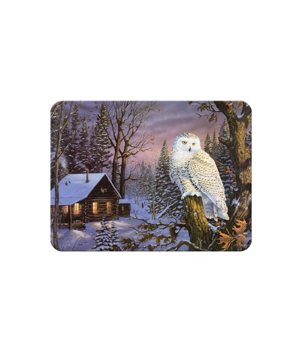Cutting Board 12in x 16in - White Owl