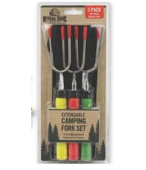 Camp Fork Rotating - 3-Pack Blister 10 to 34 in.