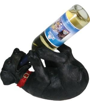 Wine Bottle Holder - Black Lab