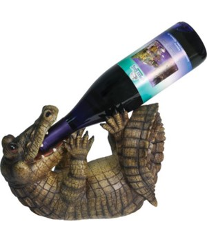 Wine Bottle Holder - Alligator