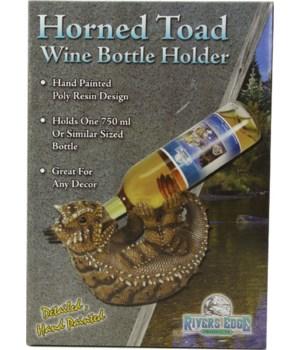 Wine Bottle Holder - Horned Toad