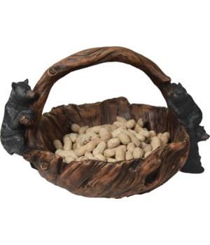 Basket - Wood-Look Bear 13 x 10 x 10 in.