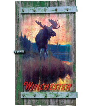 Shutter Sign 9in x 16in - Winchester Moose