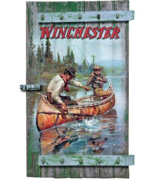 Shutter Sign 9in x 16in - Winchester Fishing