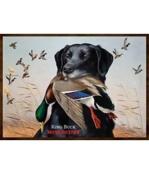 Door Mat Woven 52in x 37in - Winchester King Buck