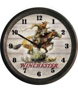 Clock 15 in - Horse & Rider
