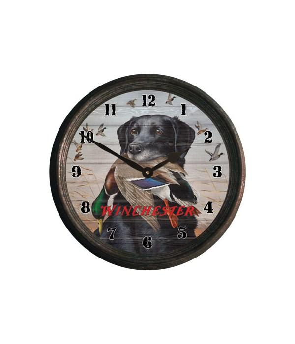 Clock 15 in - Black Lab