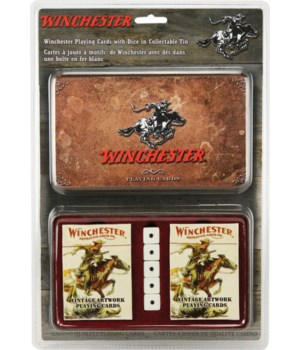 Playing Cards and Dice in Tin - Winchester