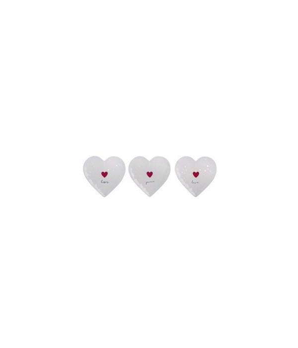 Dol Heart Shaped Saucer 3 Asst