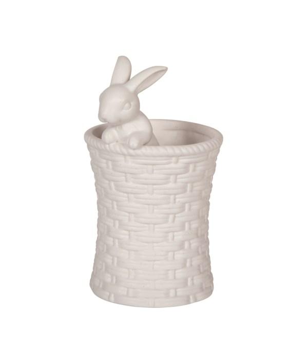 Cer Vanilla Bean Bunny Vase