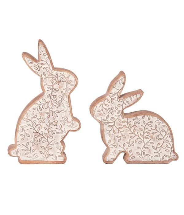 Res Detail Bunny Decor S/2