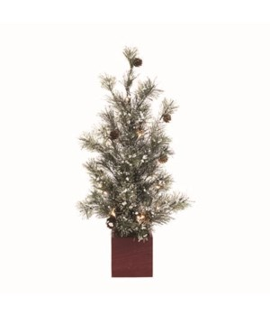 Lg Light Up Tree w/Pinecones & Box