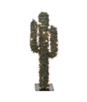 Sm Floral Light Up Cactus Tree KD