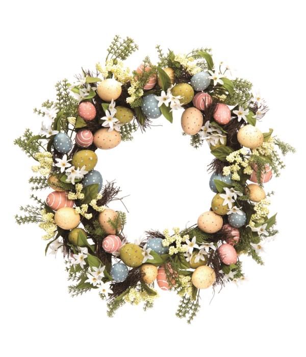 Decorated Egg Wreath