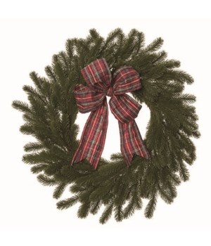 Buffalo Plaid Bow Wreath
