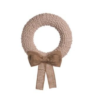 Cozy Wreath w/Burlap Bow