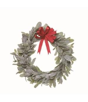 Lambs Ear Wreath w/Bow