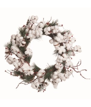 Cotton & Berry Wreath