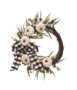 Buffalo Pumpkin Wreath