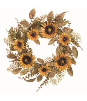 Harvest Sunflower Wreath