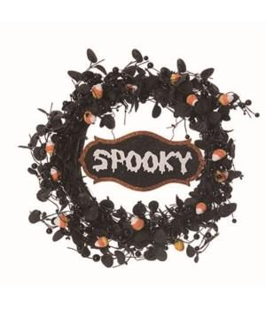 Mini Candy Corn Spooky Wreath