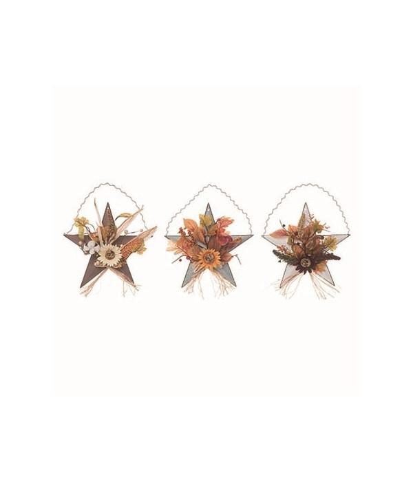 Sm Metal Star Basket Floral Decor 3 Asst