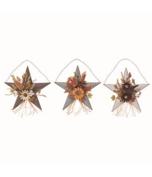 Lg Metal Star Basket Floral Decor 3 Asst