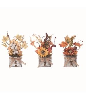 Metal Floral Hanging Basket 3 Asst