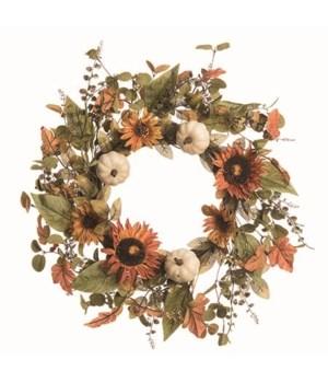 Sunflower Autumn Wreath