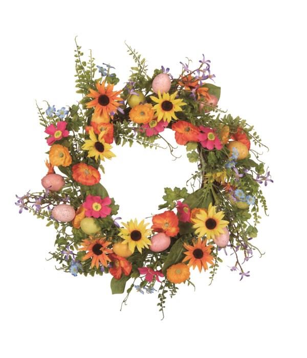 Easter Egg & Floral Wreath