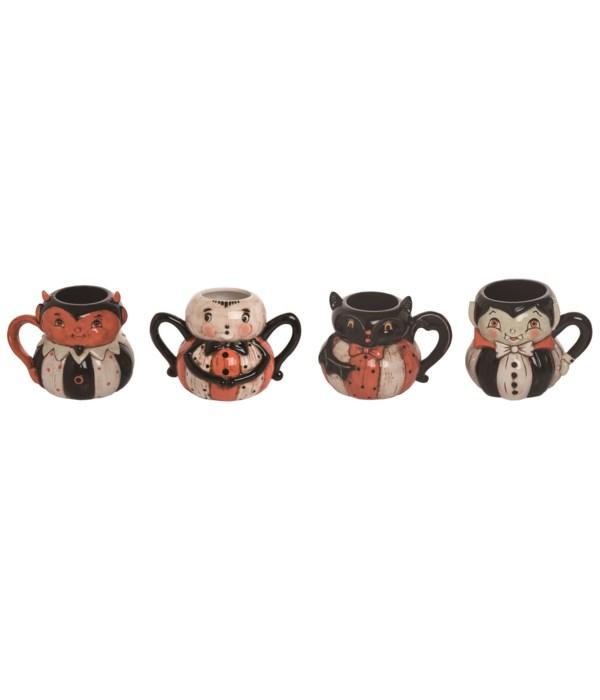 Dol Bat Pumpkin Peep Mug 4 Asst
