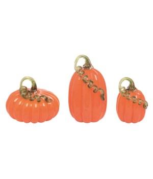 Glass Traditional Pumpkin S/3