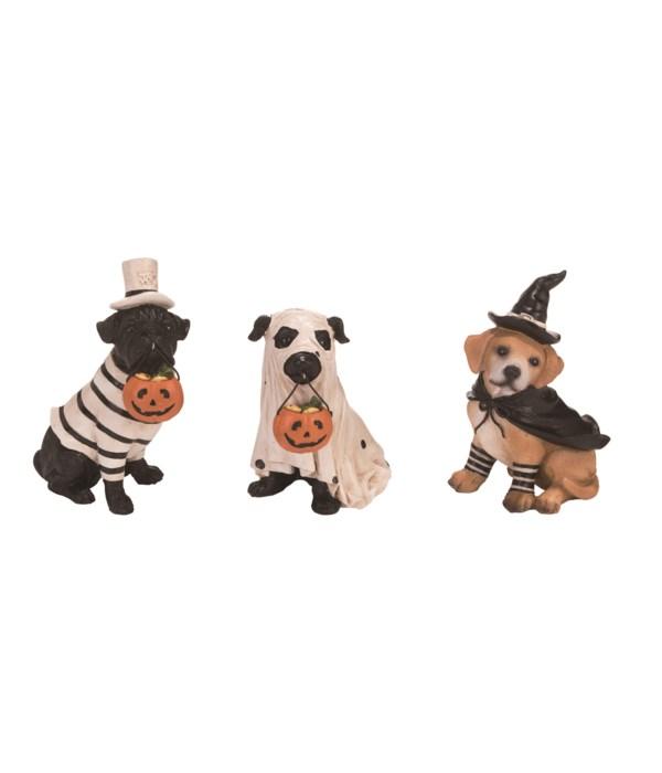 Res Halloween Pup Fig 3 Asst