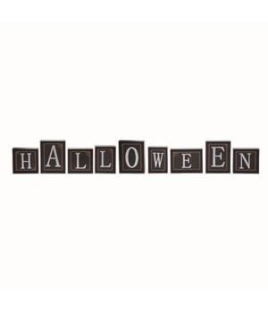 MDF/Metal Halloween Block Decor S/9