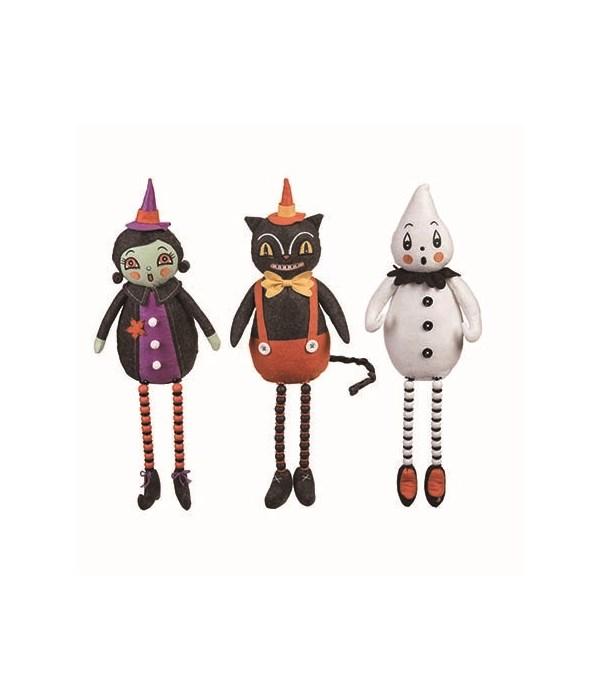 Plush Halloween Shelf Sitter 3 Asst